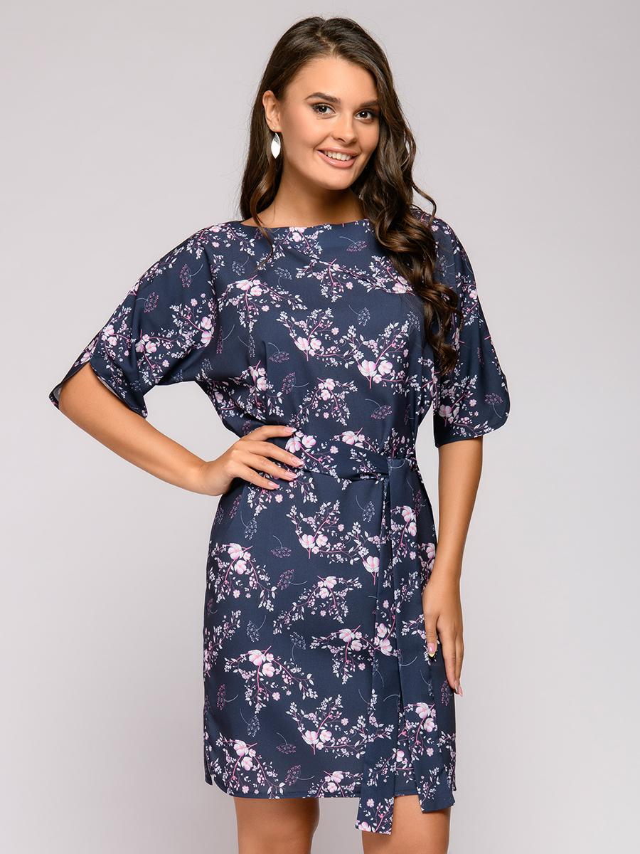 Платье женское 1001dress 0112001-01652BB синее 42