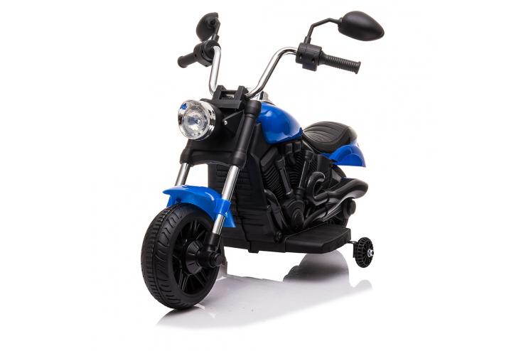 Детский электромотоцикл Jiajia 8740015 Blue с надувными