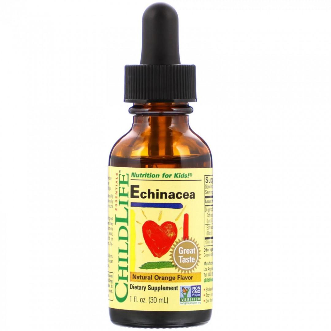 CDL-10100, Essentials эхинацея ChildLife натуральный апельсиновый вкус 30 мл  - купить со скидкой