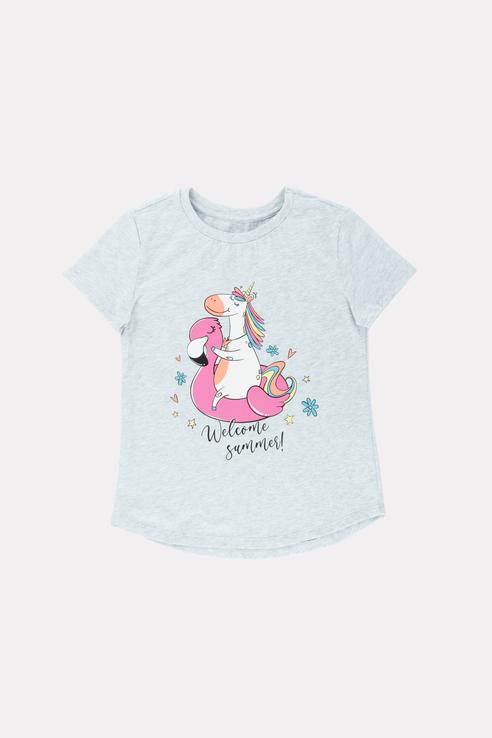 Купить Базовая футболка с принтом 21-13963П-Э Серый 98, Ennergiia,