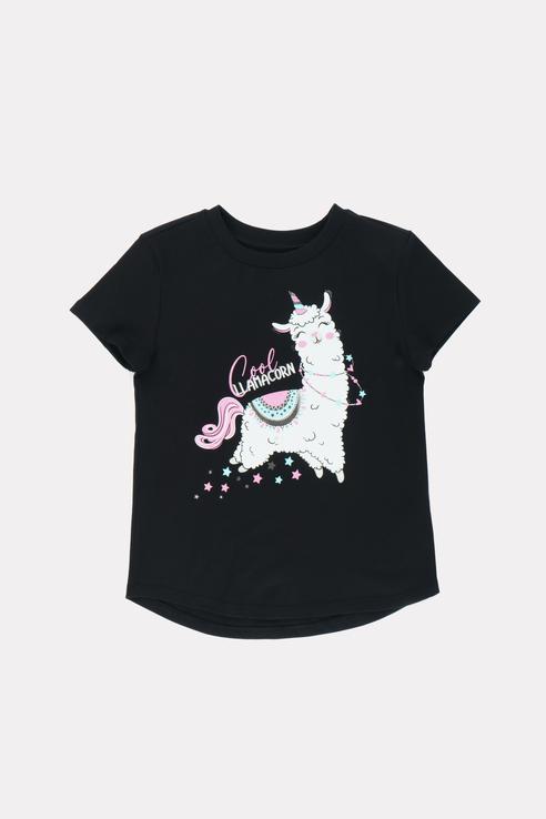 Купить Базовая футболка с принтом 21-13963П-Э Черный 98, Ennergiia,