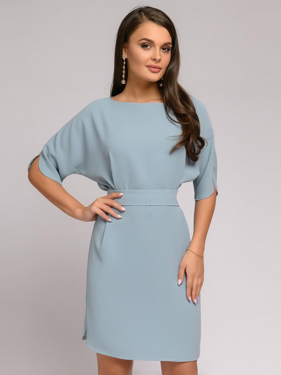 Платье женское 1001dress DM01652GY серое 42