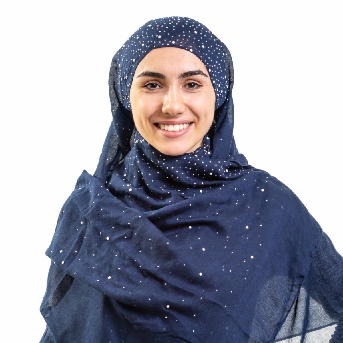 Хиджаб платок женский Asiyah AY-HJB4-01 темно-синий р. 170x60