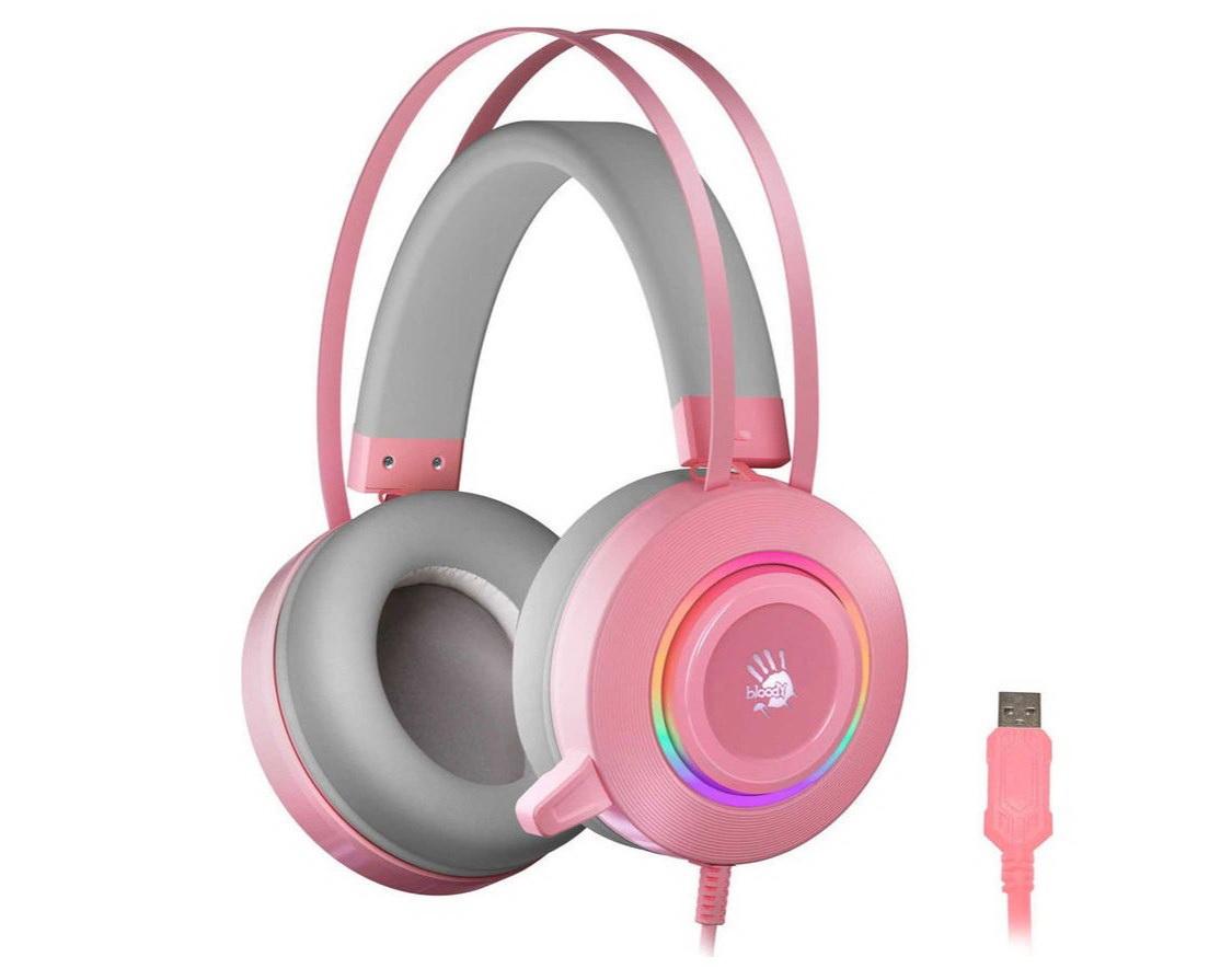 Игровые наушники A4Tech Bloody G521 Pink