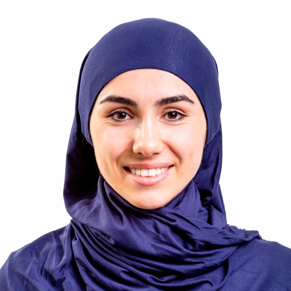 Хиджаб платок женский Asiyah AY-HJB3-01 темно-синий р. 170x60