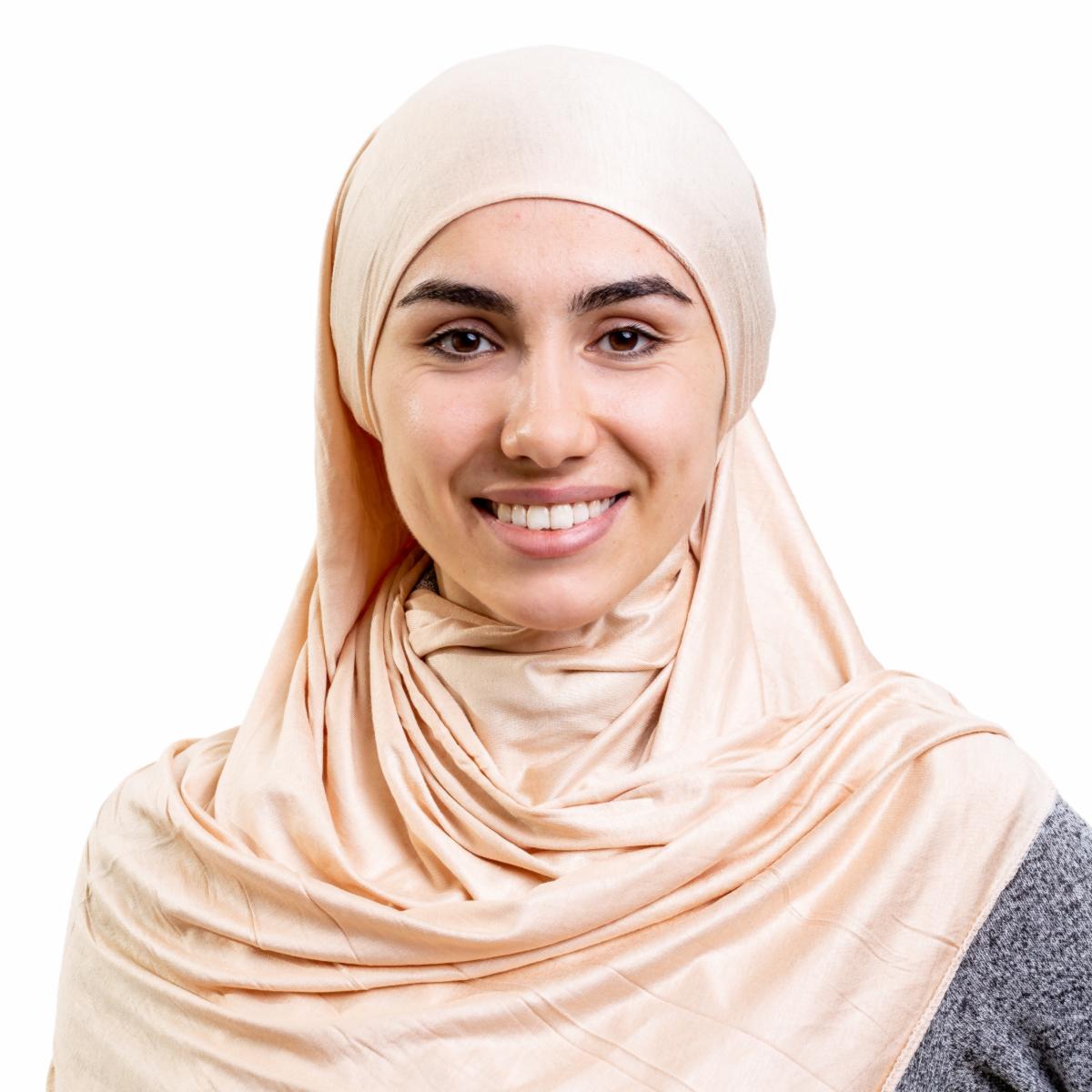 Хиджаб платок женский Asiyah AY-HJB3-01 светло-бежевый р. 170x60