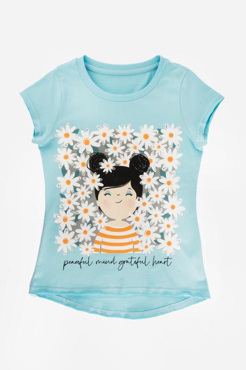 Купить Хлопковая футболка 21-14727П-Э Голубой 98, Ennergiia,