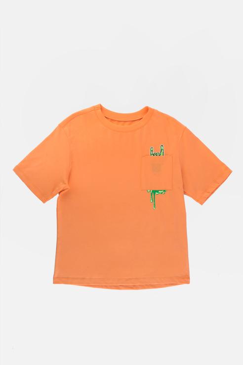 Купить Повседневая хлопковая футболка Оранжевый 98 21-14048П-Э, Ennergiia,