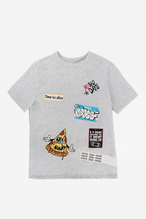 Купить Хлопковая футболка Серый 98 21-14051П-Э, Ennergiia,