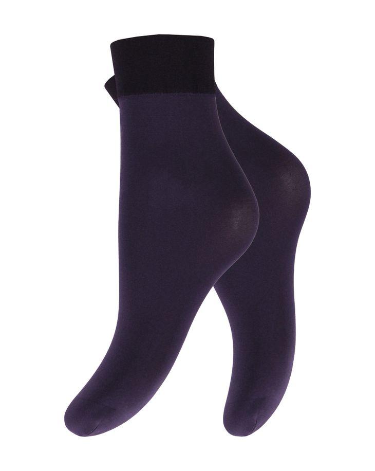 Капроновые носки женские Mademoiselle Ancona (c.) (Mad.) фиолетовые UNICA