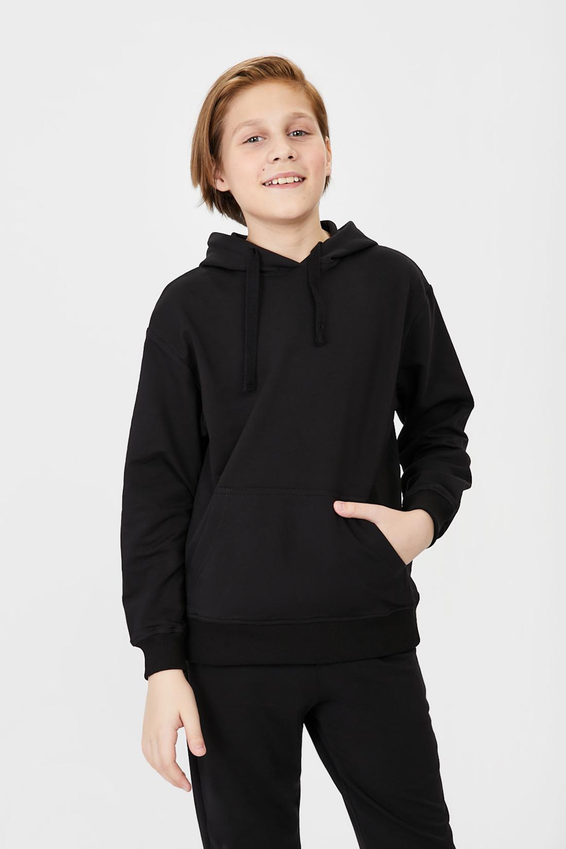 Купить Толстовка для мальчика Baon BK611001 цв. черный р.140,