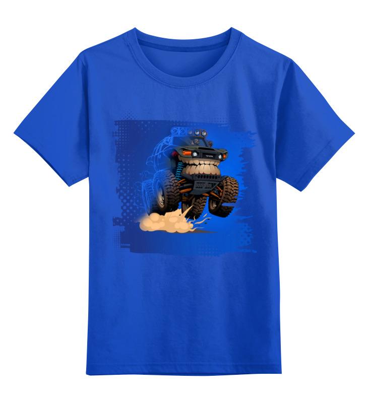 Детская футболка Printio Машина монстр цв.синий р.128 0000003508641 по цене 990