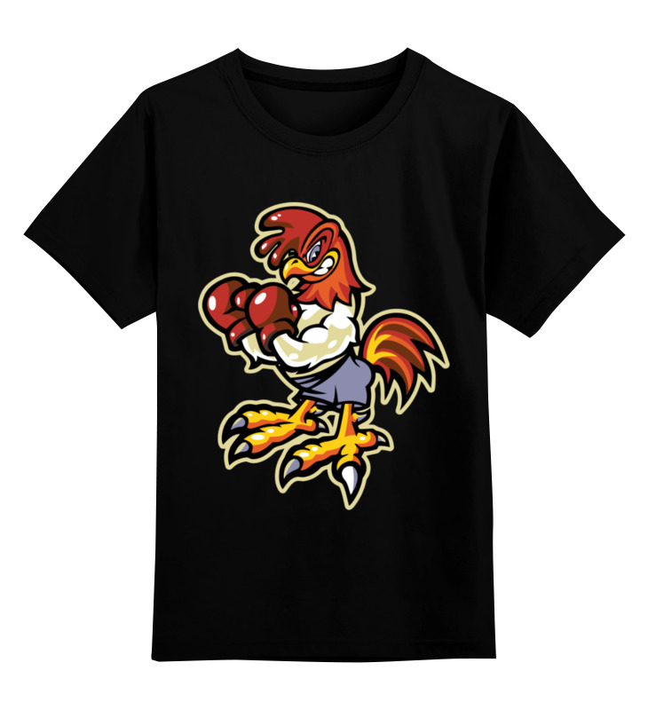 Детская футболка Printio Петух боксер цв.черный р.128 0000003513615 по цене 990