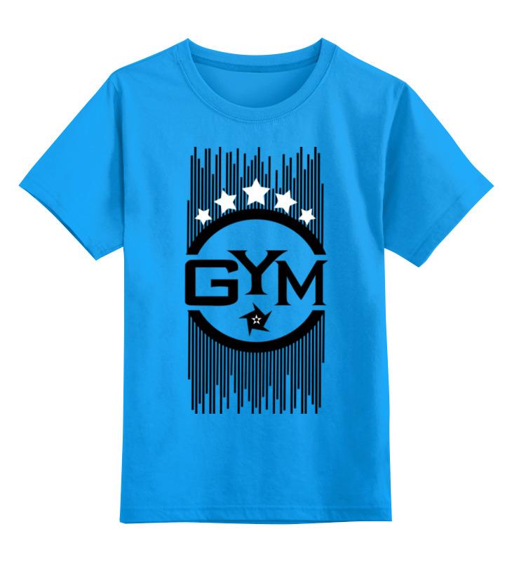 Купить 0000000691843, Детская футболка классическая Printio !! gym !!, р. 104,