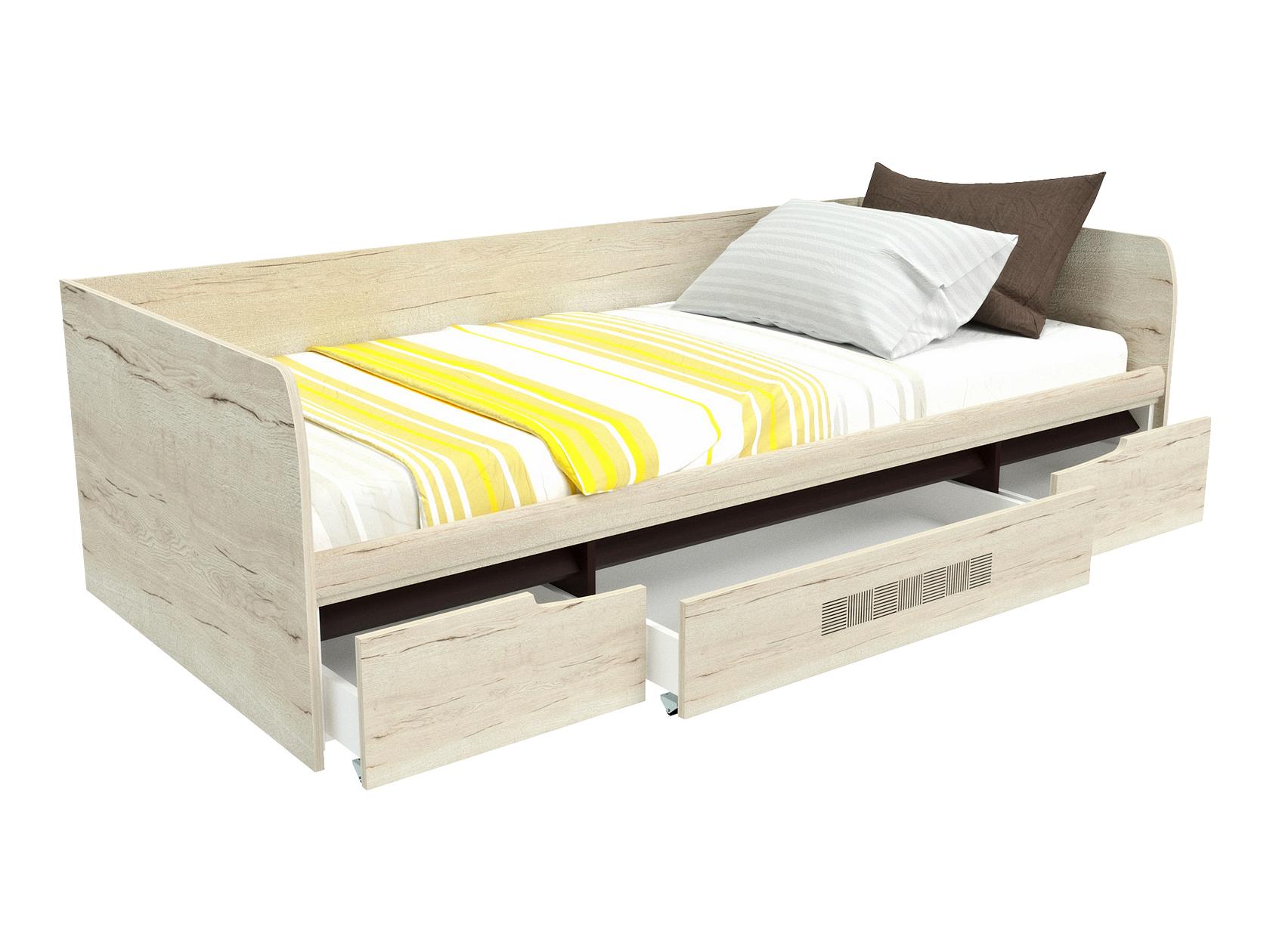 Односпальная кровать 1 но спальная с ящиками
