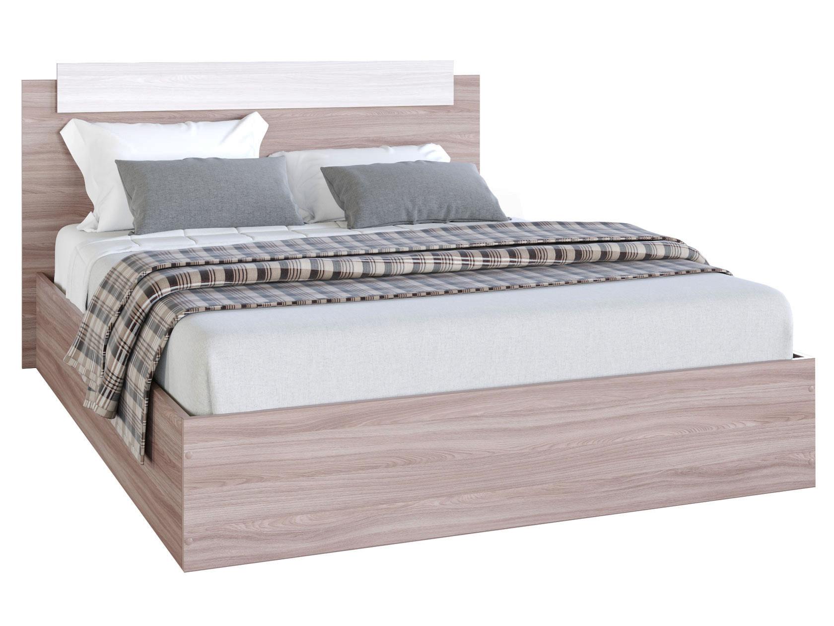 Двуспальная кровать Эко Ясень шимо светлый/Ясень шимо