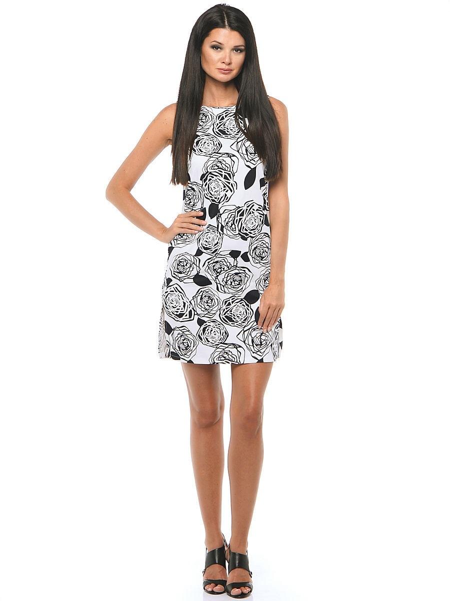 Платье женское La Fleuriss F3-3002S-78 белое 50 RU