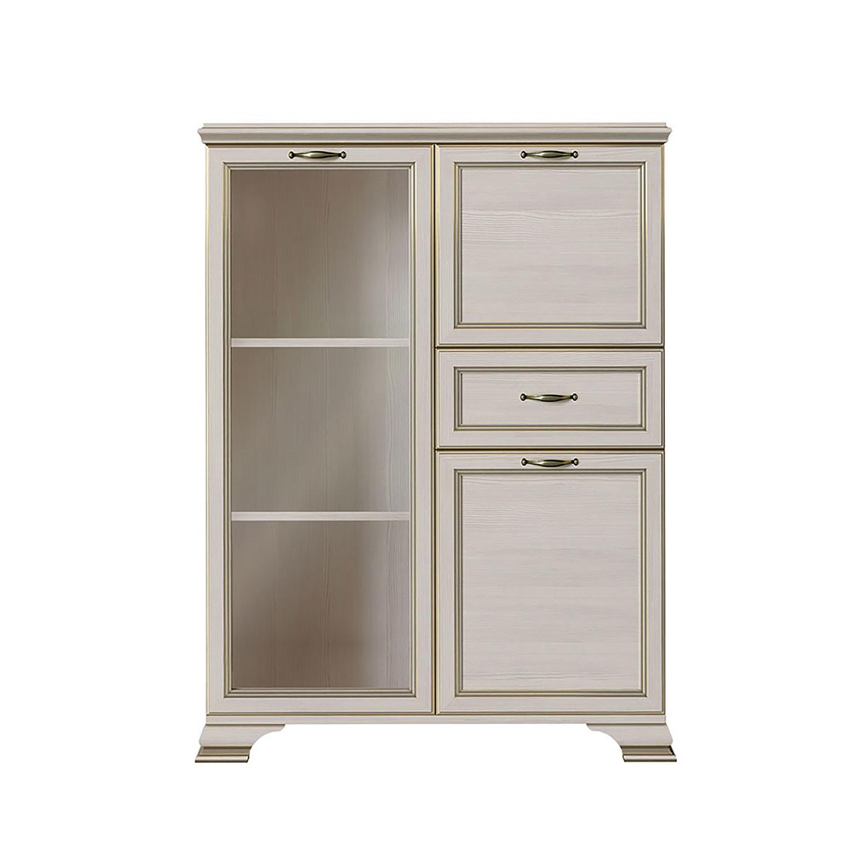 Шкаф витрина низкий 1 стеклодверь Сиена Бодега