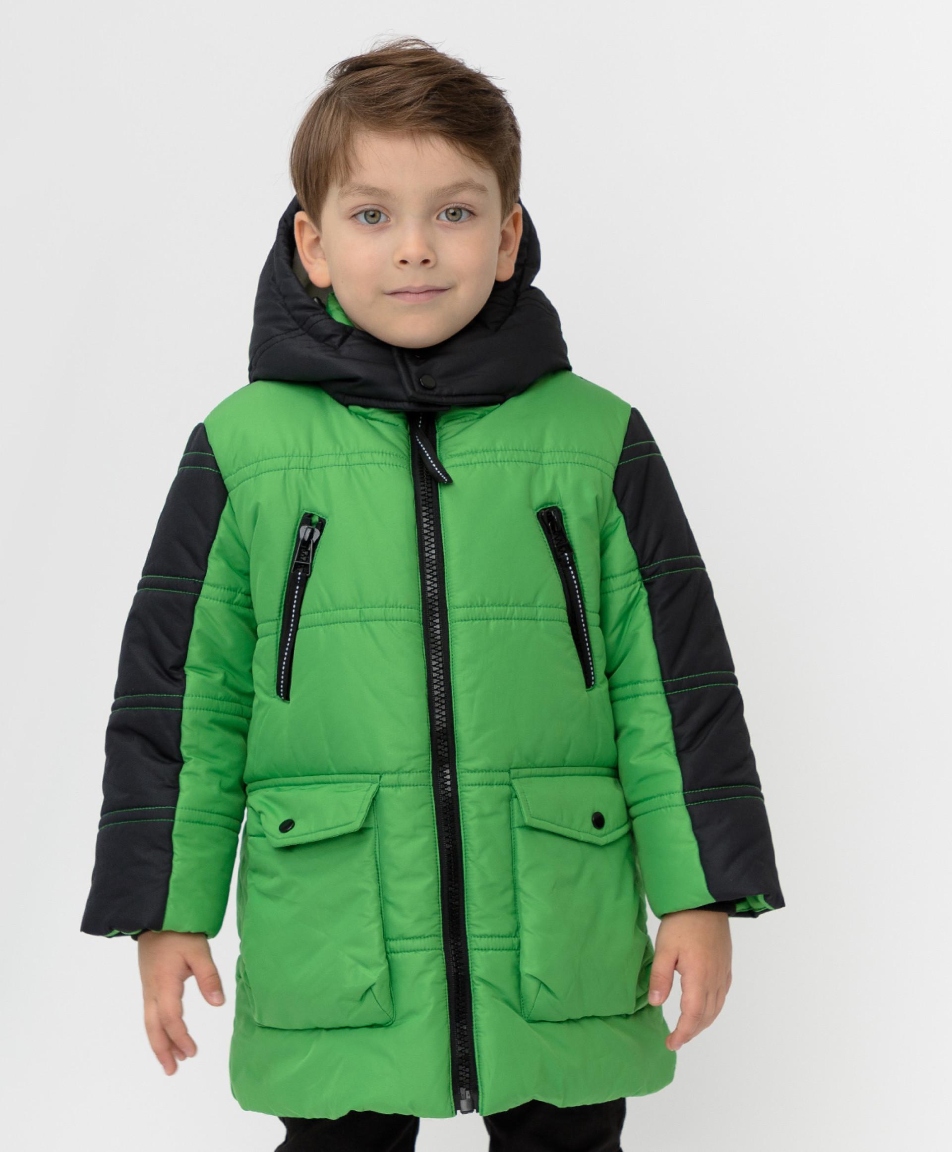 Зеленое зимнее пальто Button Blue размер