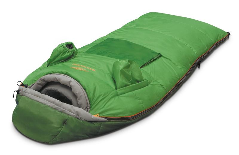 Спальный мешок Alexika Mountain Baby зеленый, правый