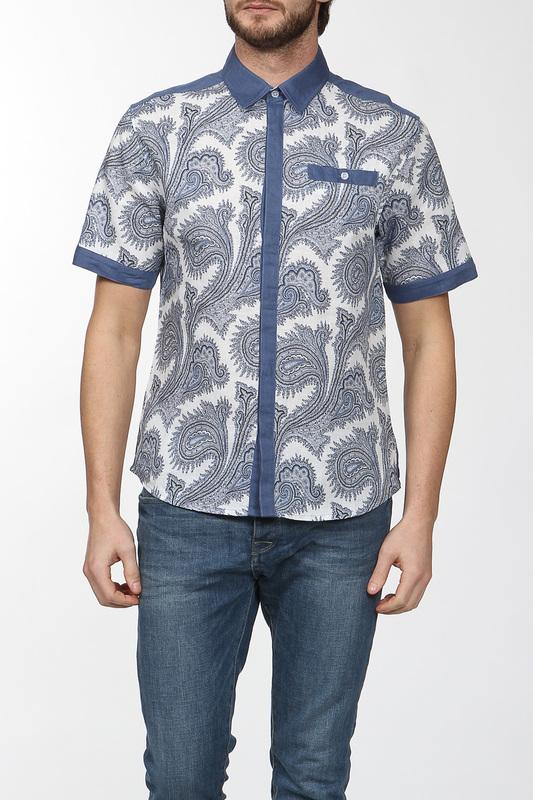 Рубашка мужская CUDGI CRS141SR0109 голубая 48 IT