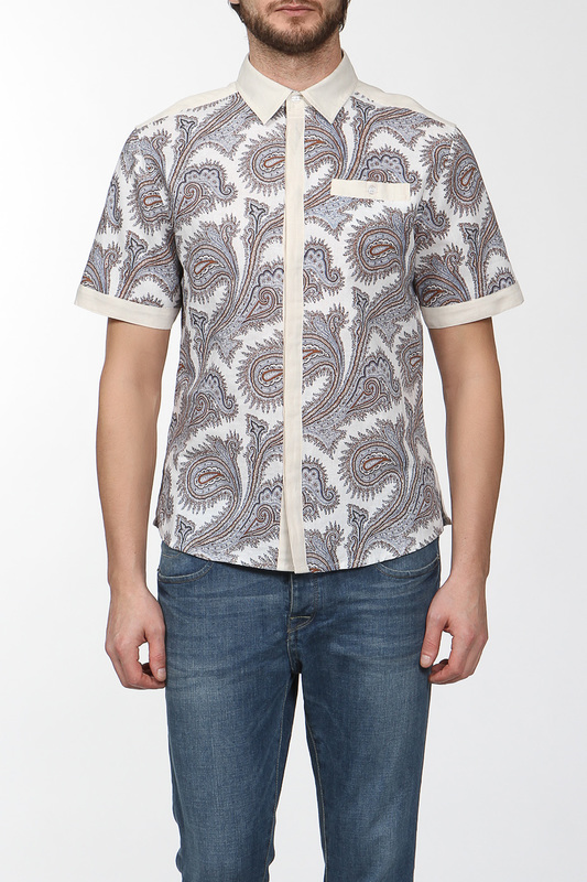 Рубашка мужская CUDGI CRS141SR0249 бежевая 48 IT