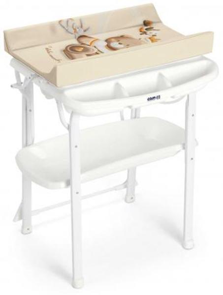 Пеленальный стол Cam Aqua 240 бежевый с мишкой и зайчиком
