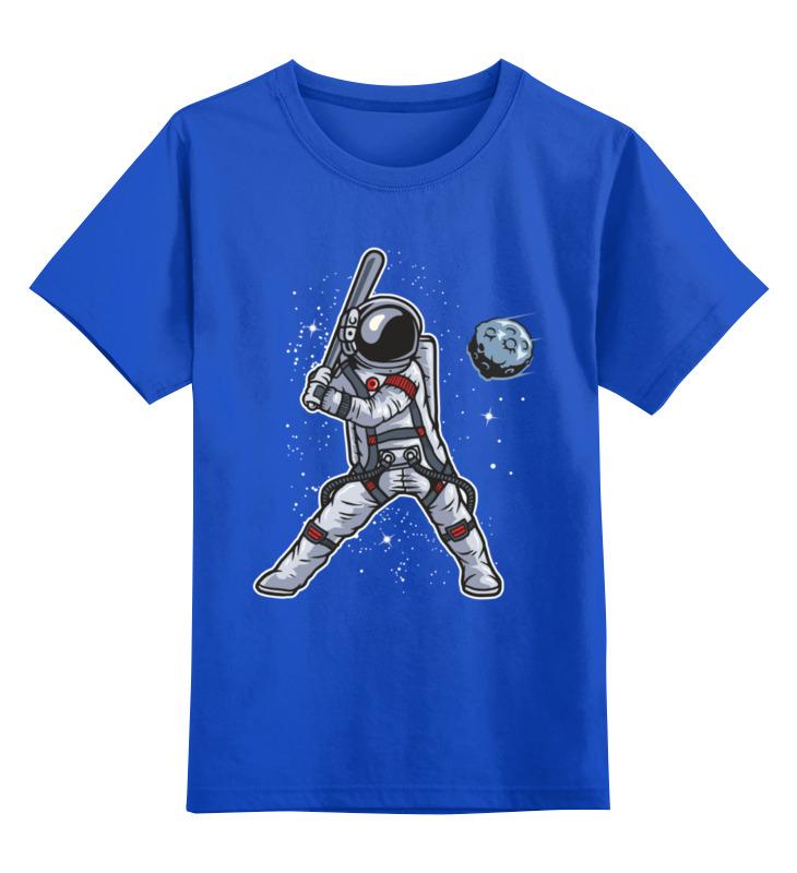 Купить 0000003489073, Детская футболка Printio Астронавт цв.синий р.104,