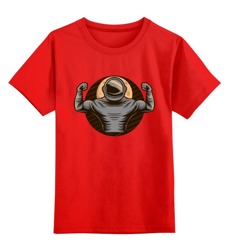 0000003494289, Детская футболка Printio Астронавт цв.красный р.104,  - купить со скидкой