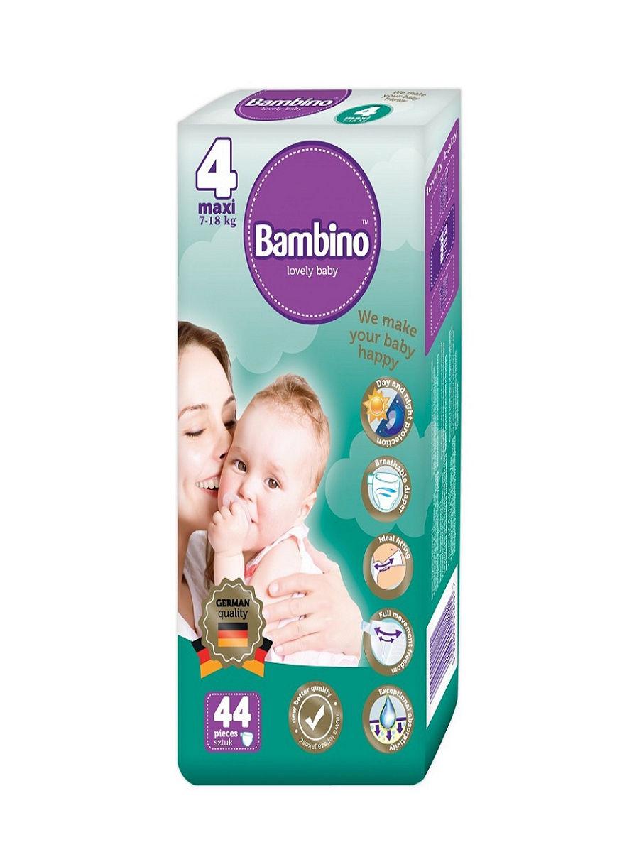 Подгузники детские Bambino Maxi 7-18 кг, 44 шт.