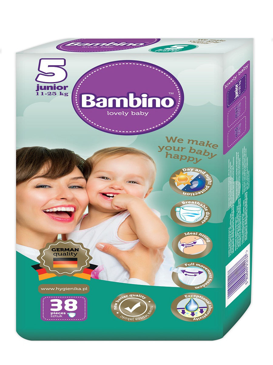 Подгузники детские Bambino Junior 11-25 кг, 38 шт.