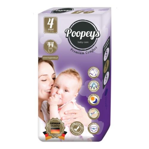 Подгузники детские Poopeys Maxi 7-18 кг, 44 шт.