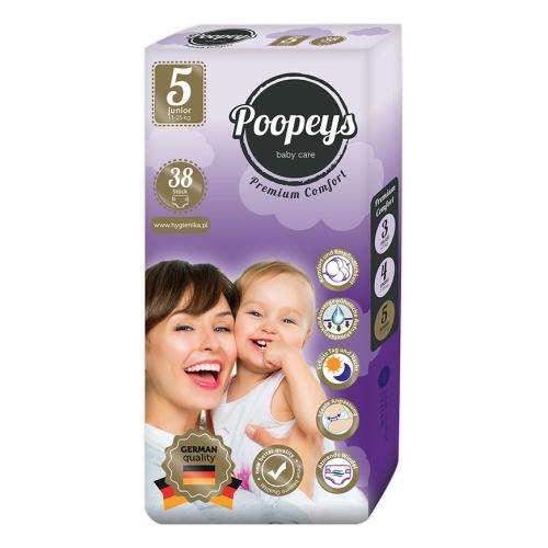 Подгузники детские Poopeys Junior 11-25 кг, 38 шт.