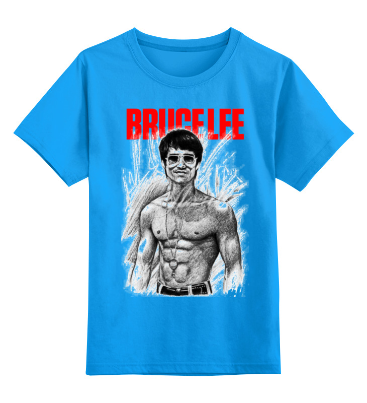 Купить 0000000689525, Детская футболка классическая Printio Bruce lee, р. 128,