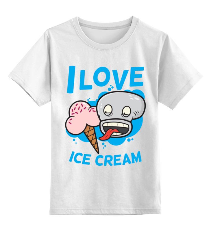 Детская футболка Printio Я люблю мороженое цв.белый р.104 0000003495166 по цене 790