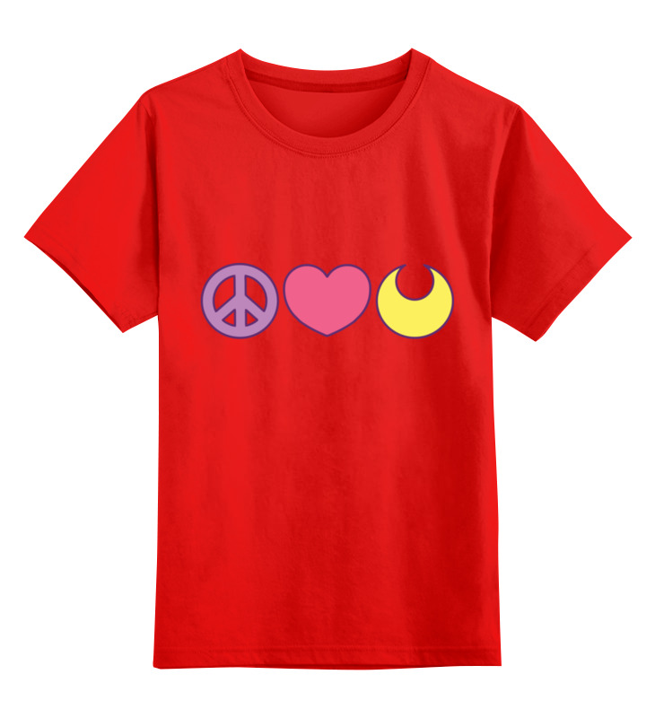 Купить 0000003513610, Детская футболка Printio Сейлор мун цв.красный р.104,
