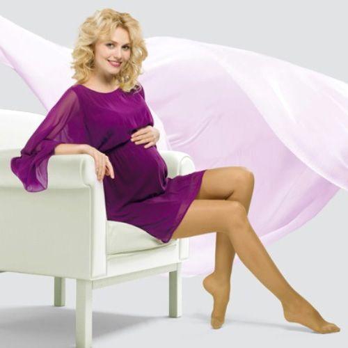 2С100, Компрессионные колготки для беременных VENOTEKS Trend 1 класс компр.1C400 M бежевый  - купить со скидкой
