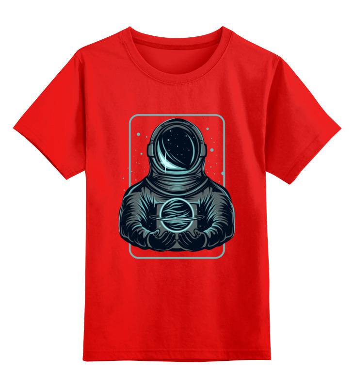 Купить 0000003536513, Детская футболка Printio Астронавт цв.красный р.104,
