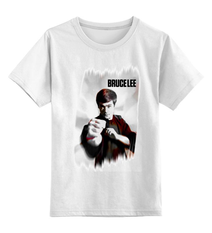 Купить 0000000692273, Детская футболка классическая Printio Bruce lee, р. 128,