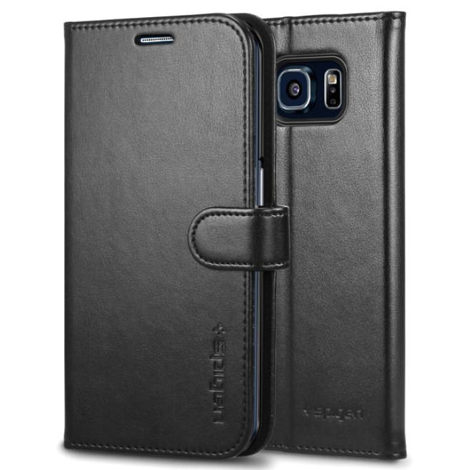 Чехол Spigen Wallet S для Samsung Galaxy S6 Edge Plus Black