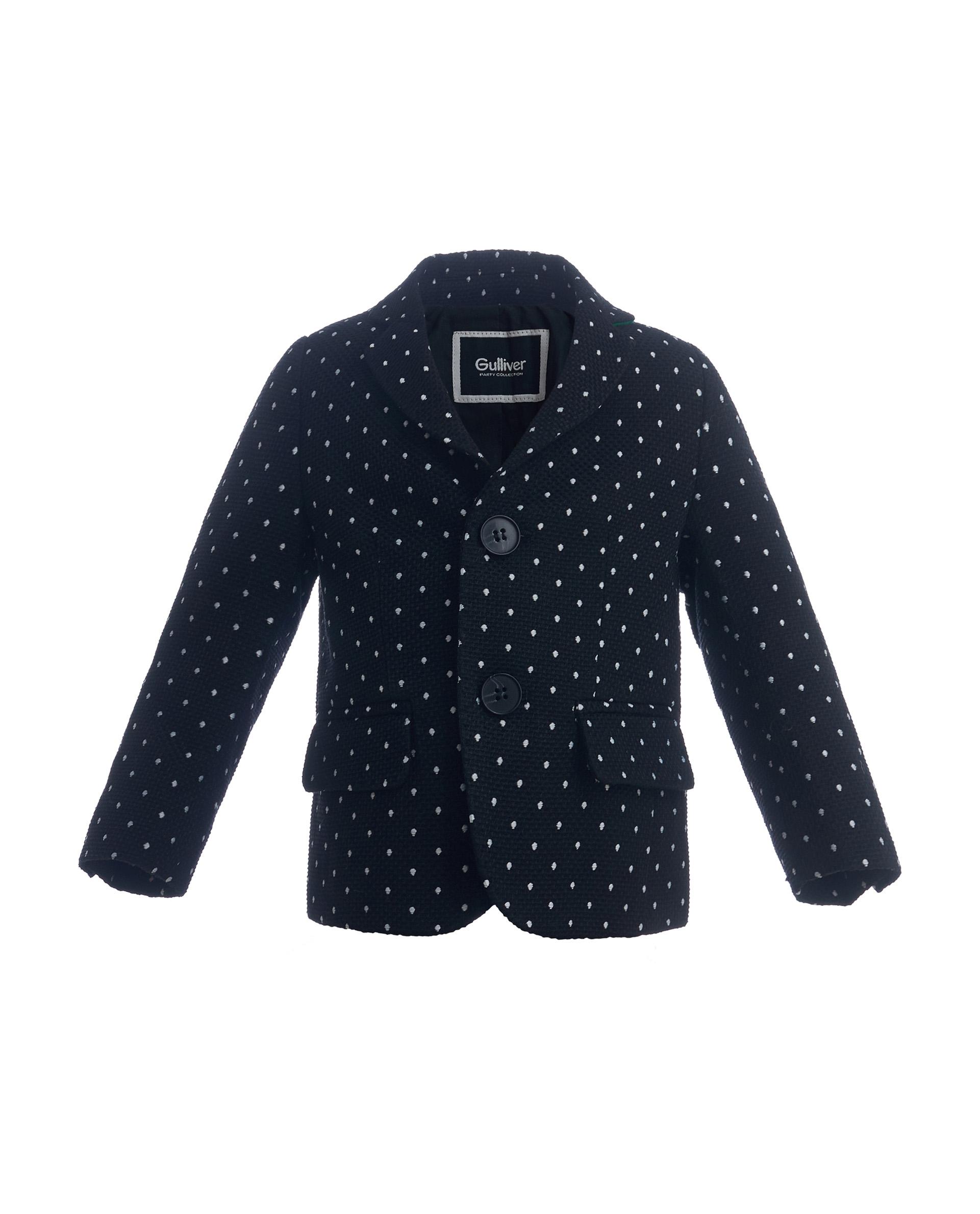 Пиджак для мальчиков Gulliver, цв. черный, р.92