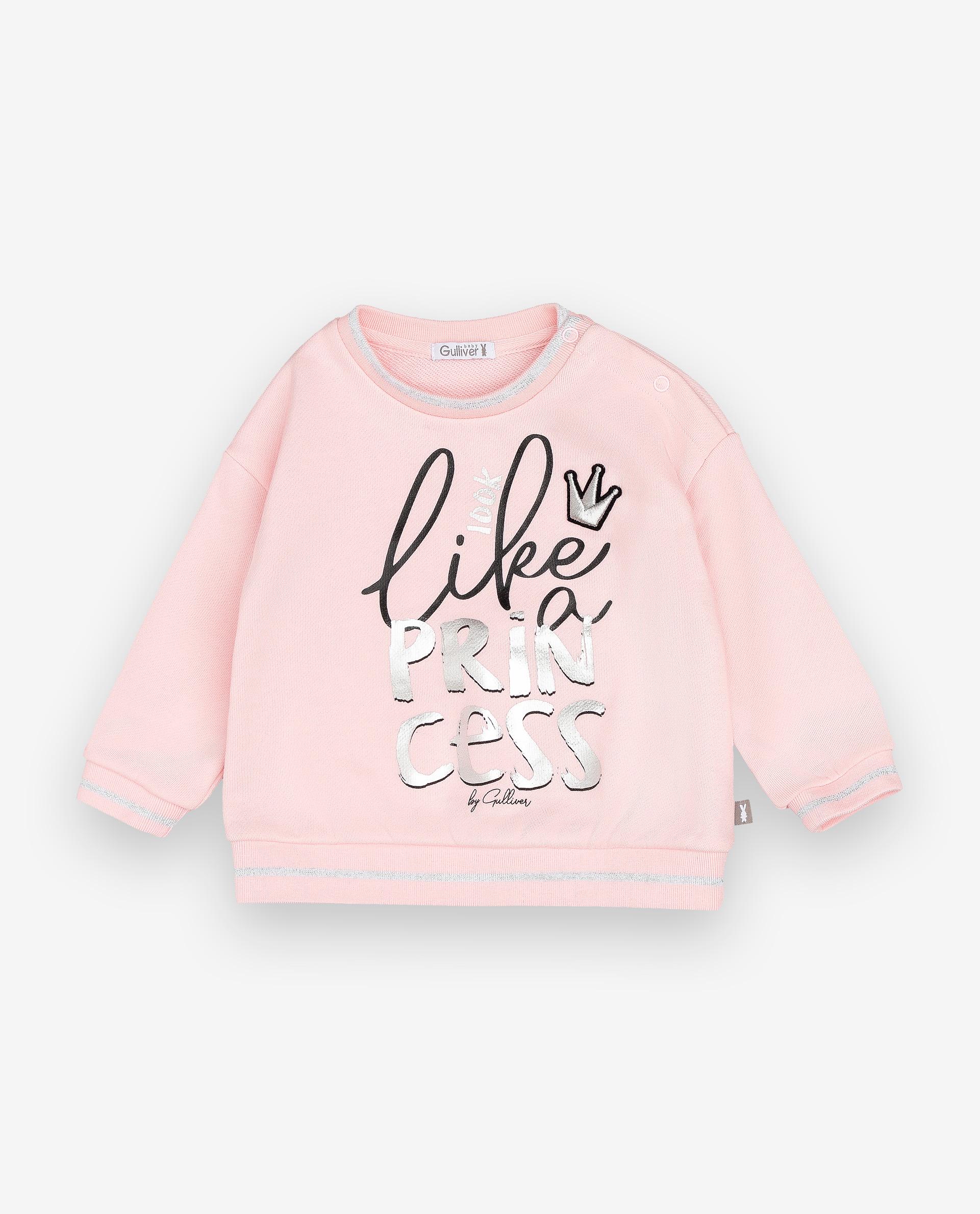 Купить 12031GBC1601, Толстовка для девочек Gulliver, цв. розовый, р.74, Кофточки, футболки для новорожденных