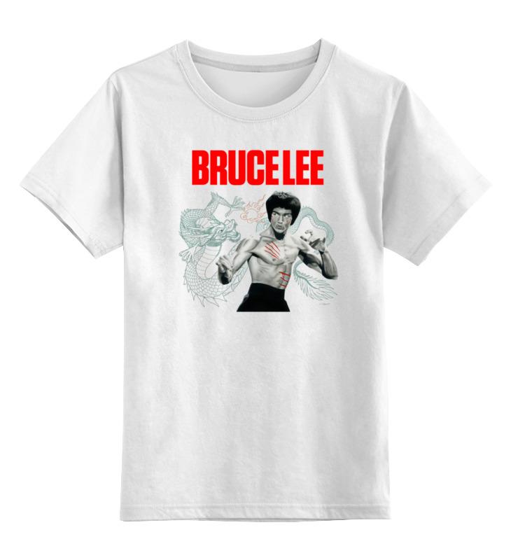 0000000693610, Детская футболка классическая Printio Bruce lee, р. 128,  - купить со скидкой
