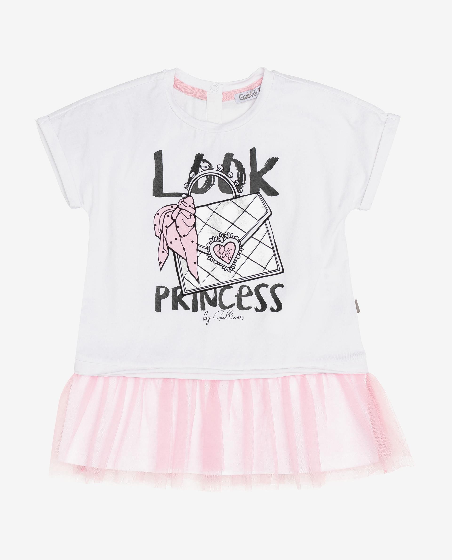 Купить 12031GBC5001, Платье для девочек Gulliver, цв. белый, р.74,