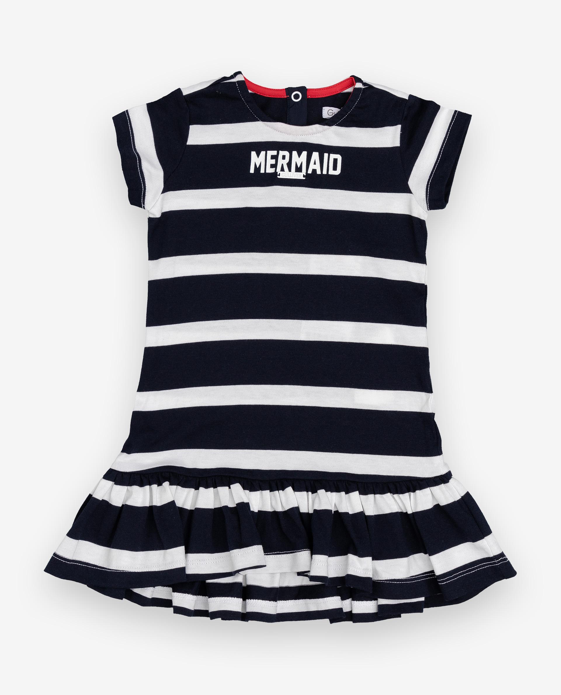 Купить 12032GBC5002, Платье для девочек Gulliver, цв. синий, р.74,