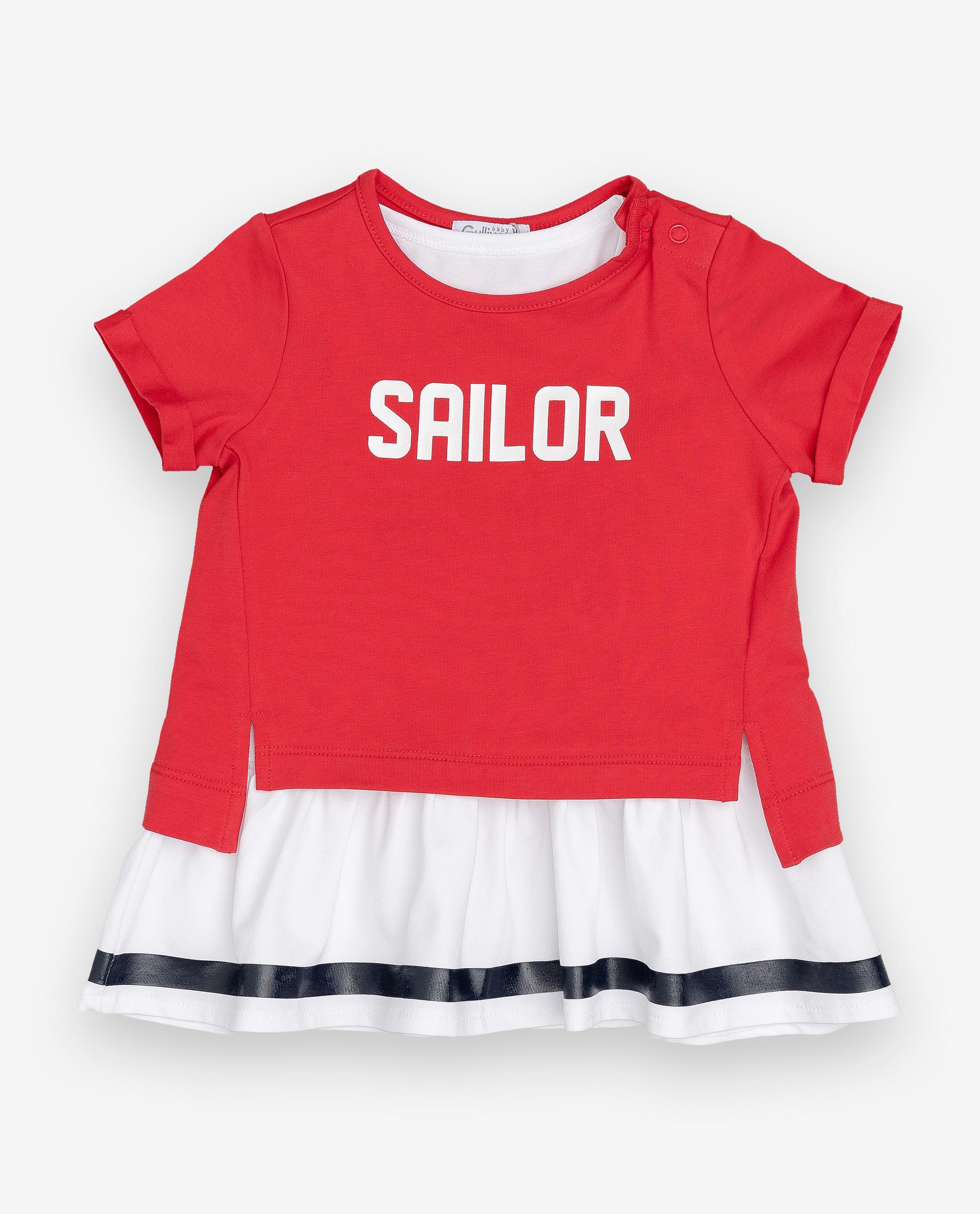 Купить 12032GBC5005, Футболка для девочек Gulliver, цв. красный, р.74,