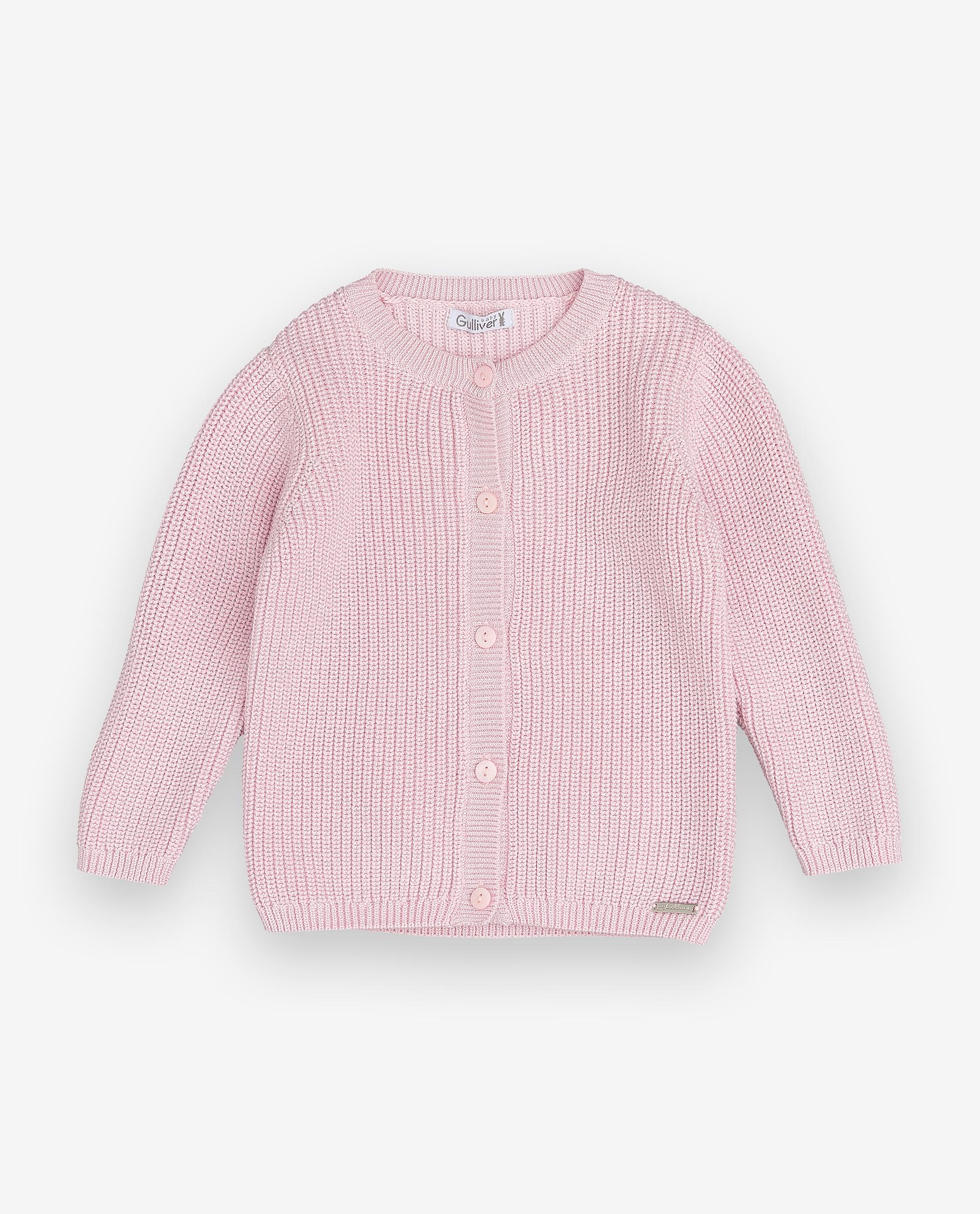 Купить 12031GBC3501, Кардиган для девочек Gulliver, цв. розовый, р.74, Кофточки, футболки для новорожденных