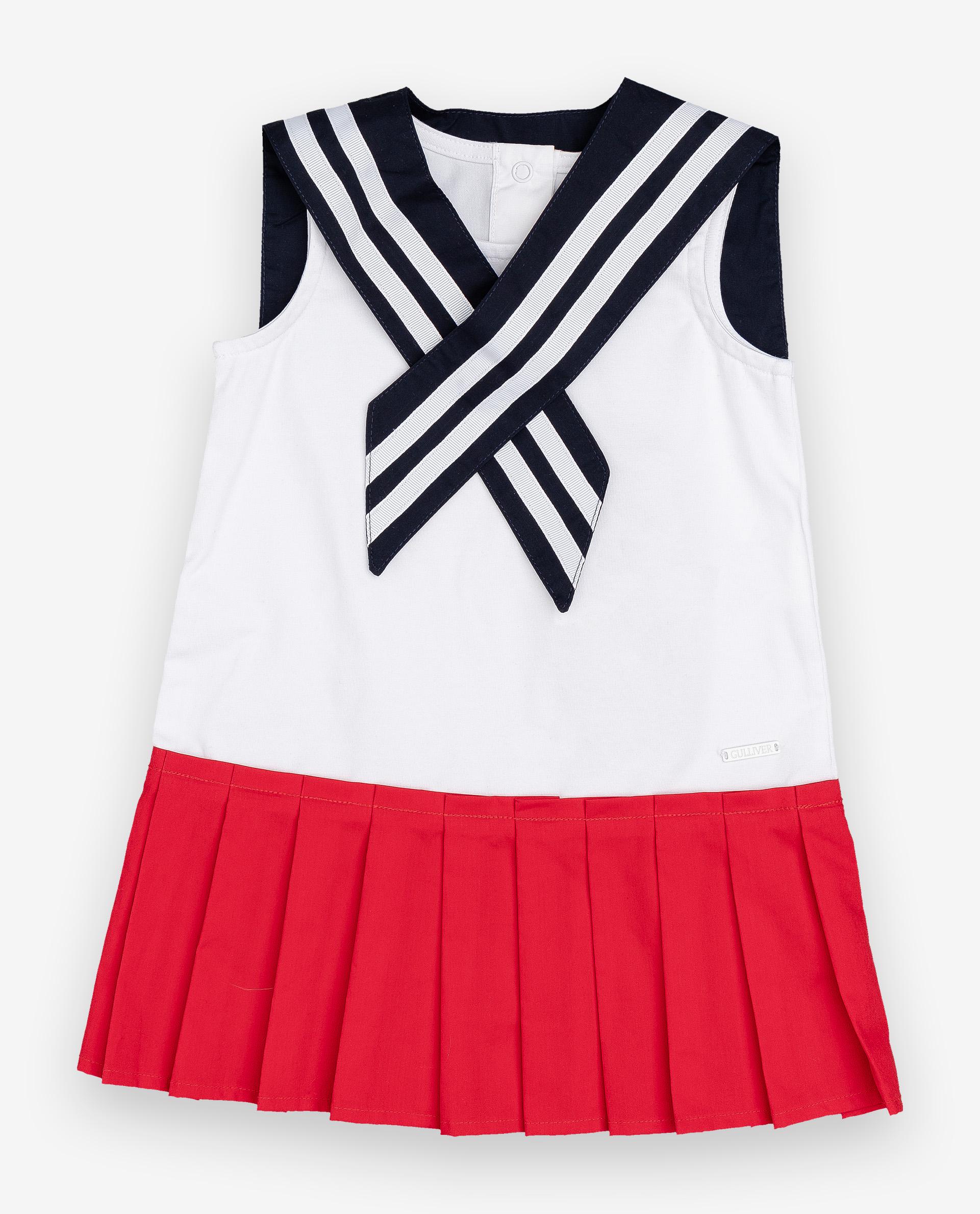 Купить 12032GBC5003, Платье для девочек Gulliver, цв. белый, р.74,