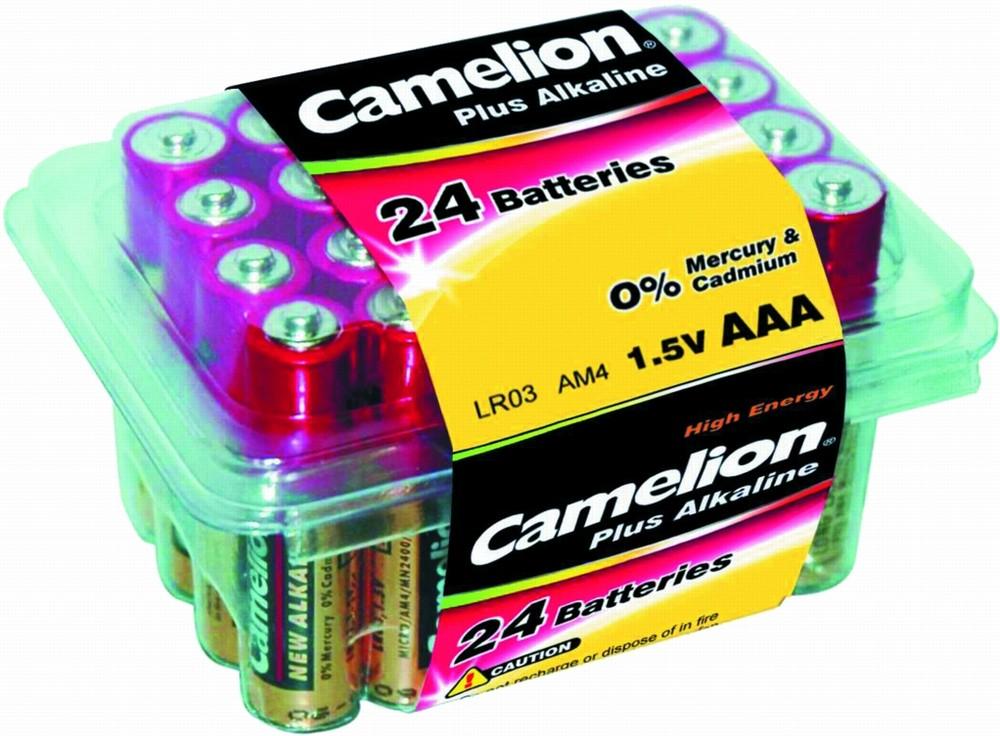 CAMELION LR03 PLUS ALKALINE PB-24