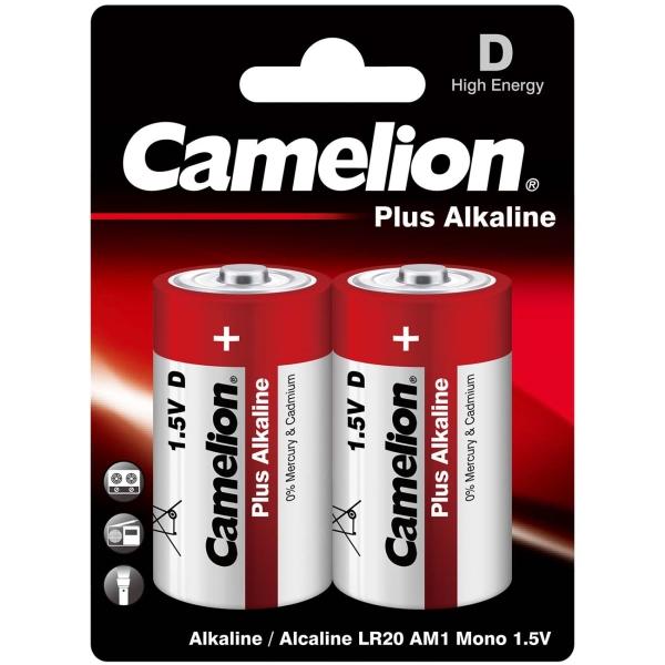 CAMELION LR20 PLUS ALKALINE BL-2